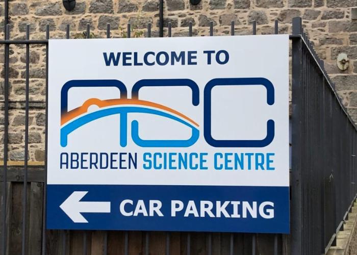 Sign reading ASC Car Park
